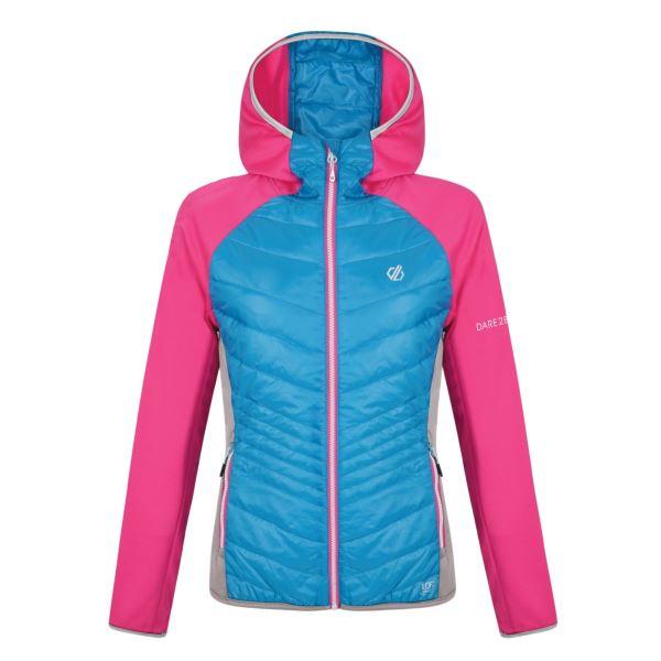 Dámská bunda Dare2b AIRWISE Wool Hybr modrá/růžová