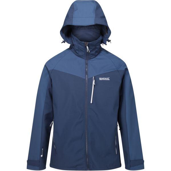 Pánská softshellová bunda Regatta HEWITTS VI modrá