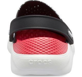 Dámské boty Crocs LiteRide Hyper Floral Clog černá/červená