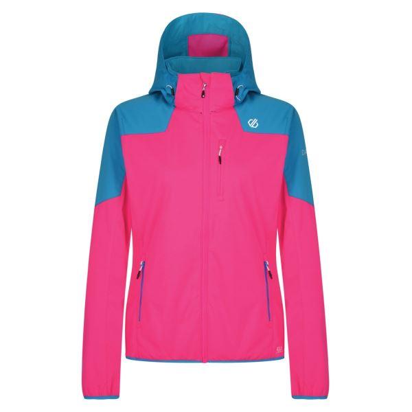 Dámská softshellová bunda Dare2b INQUIRE růžová/modrá
