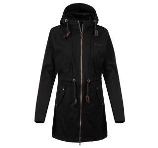 Dámský kabát  KILPI PAU-W černá (nadměrná velikost)