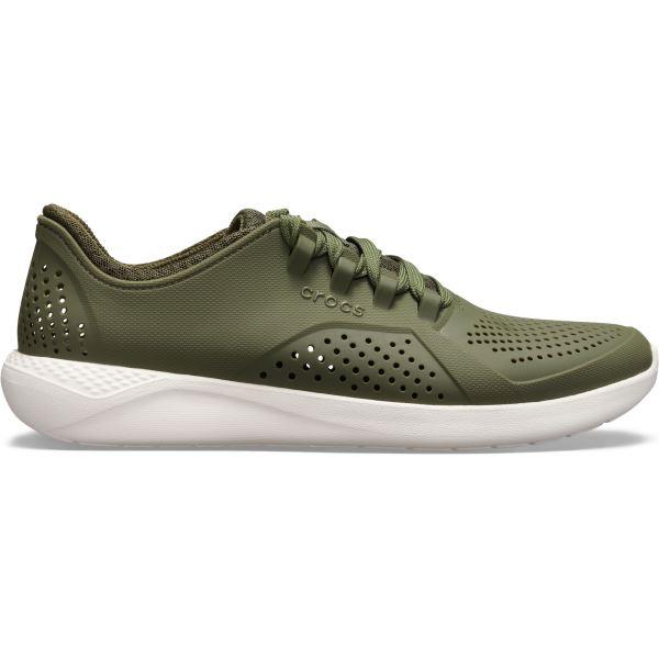 Pánské tenisky Crocs LiteRide Pacer M zelená/bílá