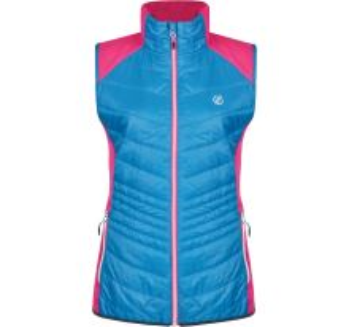 Dámská vesta Dare2b AIRWISE Hybrd modrá/růžová