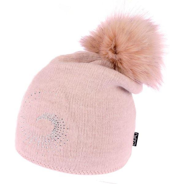 Dámská zimní čepice CAPU 1740 růžová