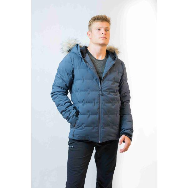 Pánská zimní péřová bunda 2117 MON inkoustově šedá