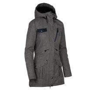 Dámský zimní kabát KILPI BRASIL-W tmavě šedá (kolekce 2019)