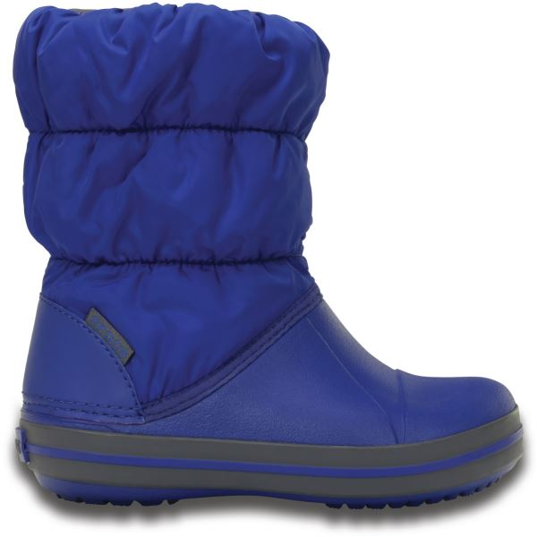 Dětské zimní boty Crocs WINTER PUFF modrá/šedá