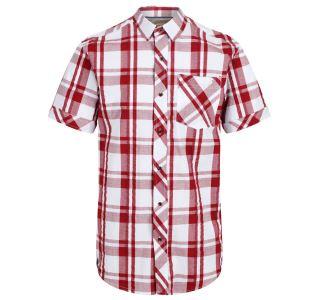 Pánská košile Regatta DEAKIN III bílá/červená