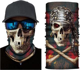Unisex multifunkční šátek/nákrčník lebka S107
