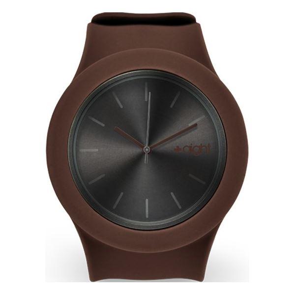 Aight silikonové hodinky 3ATM hnědá