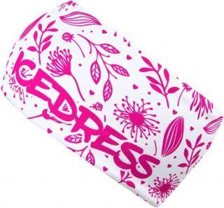 Univerzální funkční čelenka IceDress FLOWERS bílá/růžová