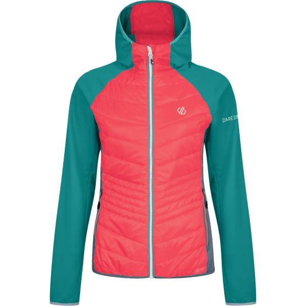 Dámská bunda Dare2b AIRWISE Wool Hybr zelená/růžová