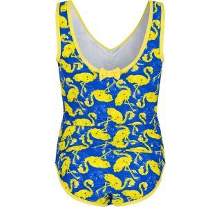 Dívčí jednodílné plavky Regatta DIVER modrá/žlutá