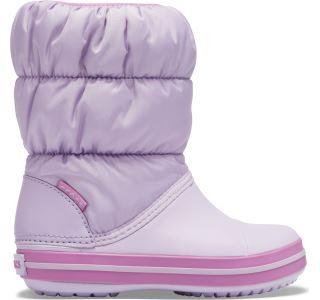 Dětské zimní boty Crocs WINTER PUFF světle fialová