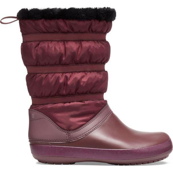 Dámské zimní boty Crocs CROCBAND Winter Boot vínově červená