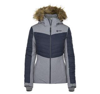 Dámská zimní lyžařská bunda KILPI BREDA-W šedá (nadměrná velikost)