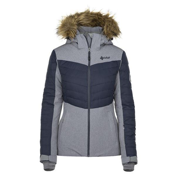 Dámská zimní lyžařská bunda KILPI BREDA-W šedá