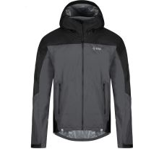 Pánská bunda KILPI HURRICANE-M tmavě šedá (nadměrná velikost)